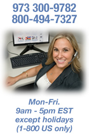 Call Us! 973-300-9782. Monday - Friday, 9am - 5pm EST except holidays.